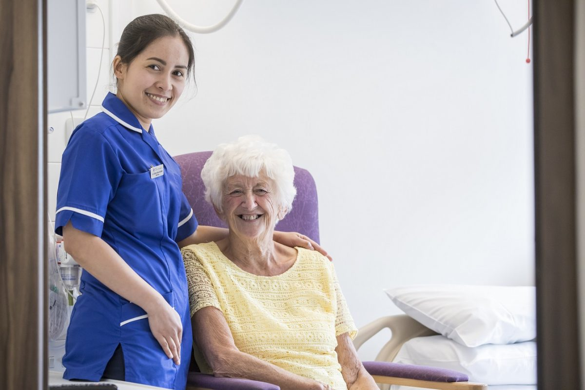 Staff Nurse With ENT Patient